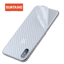 Suntaiho 3D Carbon Fiber Rear Screen Protector for iPhone XS MAX XR XS for iPhone 7 plus 8 X 6 Back Cover Protective Guard Film