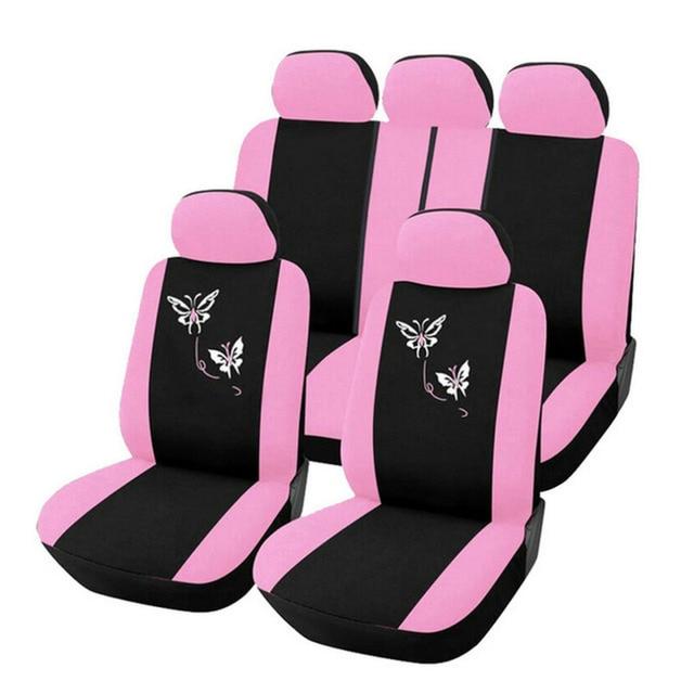 2016 Новый Бабочка Мода Стиль Передние Задние Универсальный Автомобилей Чехлы Роскошные Милый Розовый стайлинга автомобилей
