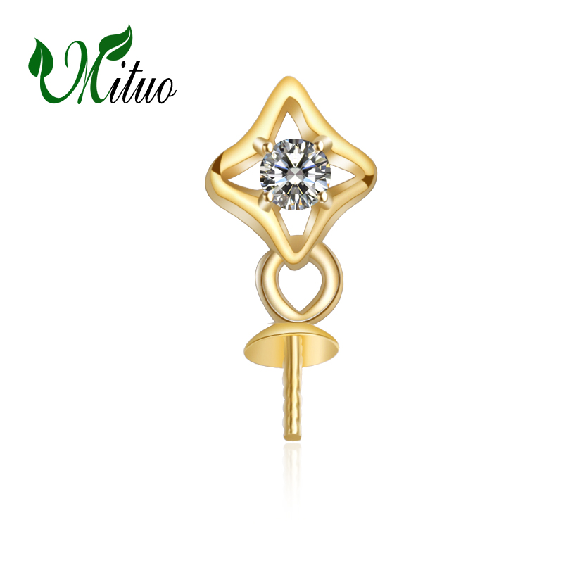MITUO 18K Yellow Gold trendy pendant pearl DIY accessories necklace for love women,wedding pearl Jewelry,chain necklaceMITUO 18K Yellow Gold trendy pendant pearl DIY accessories necklace for love women,wedding pearl Jewelry,chain necklace