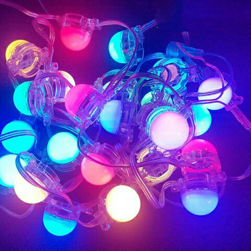 50mm diameter full color point light Waterproof led pixel module micky or transperant cover DC24V 1.5W