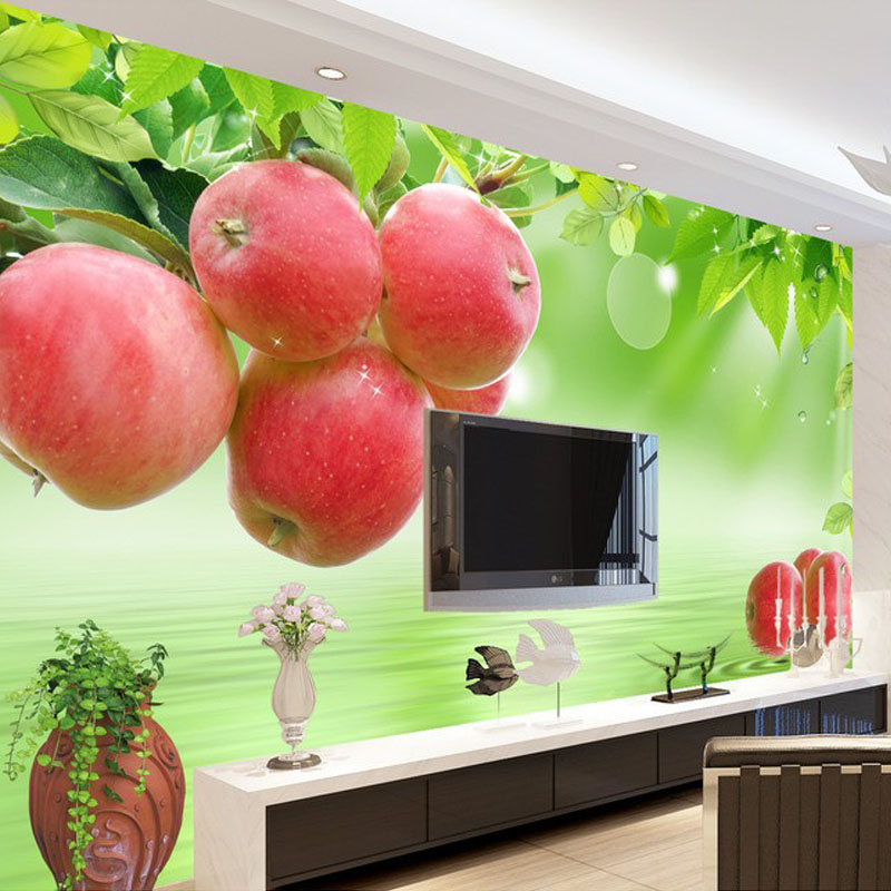 Custom 3D Photo Wallpaper Fresh Fruit Large Wall Painting Restaurant Living Room Sofa TV Background Mural Wallpaper WallCoveringCustom 3D Photo Wallpaper Fresh Fruit Large Wall Painting Restaurant Living Room Sofa TV Background Mural Wallpaper WallCovering