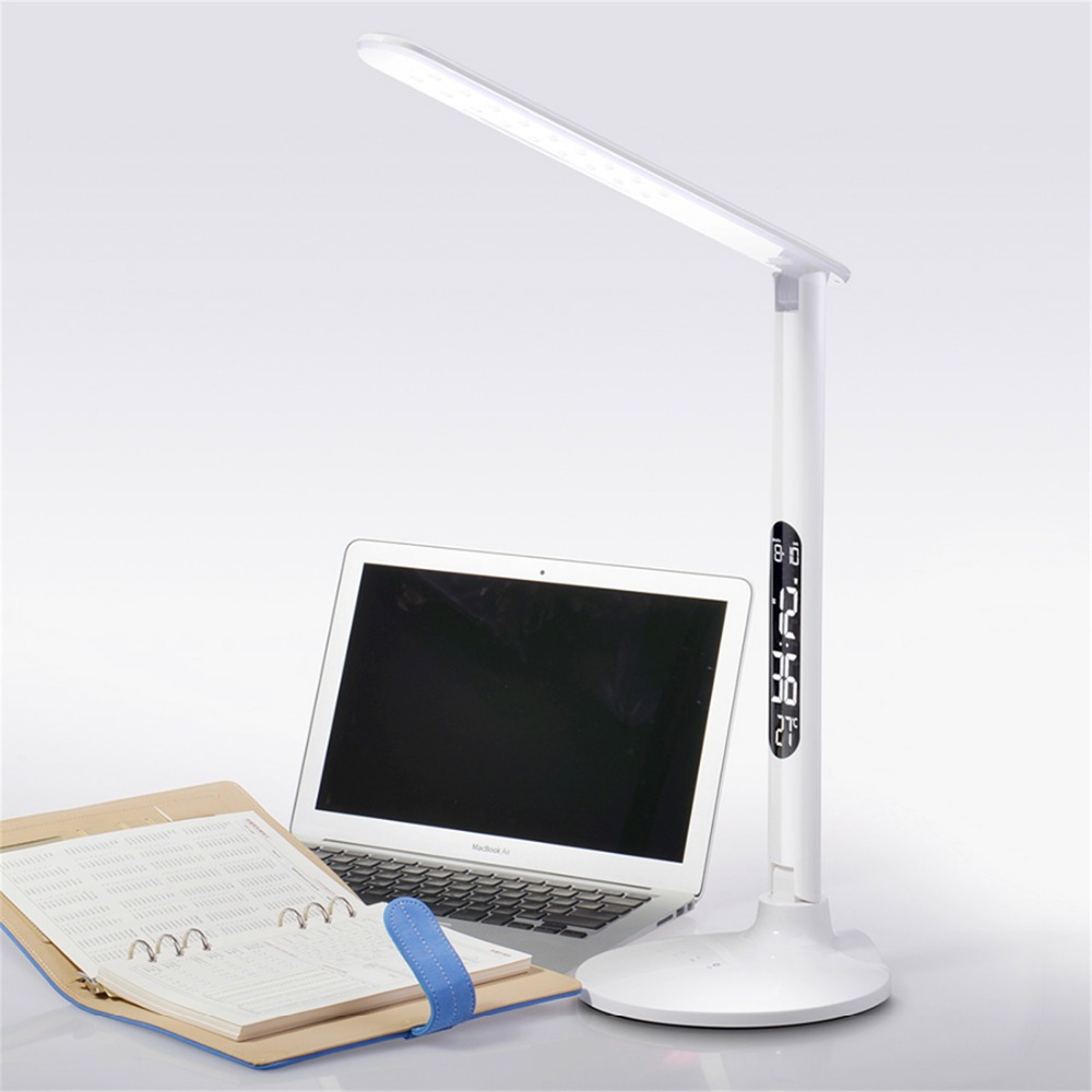 LED Eye Protection Table Lamp With Permanent Calendar For Study Work Read Lamp with free shipping