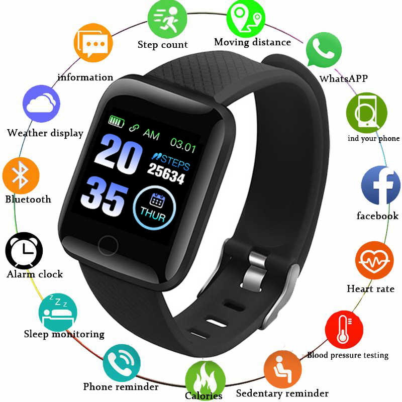 GEJIAN D13 ساعة ذكية الرجال ضغط الدم مقاوم للماء 116 Smartwatch النساء مراقب معدل ضربات القلب اللياقة البدنية ساعة الرياضة ل أندرويد IOS