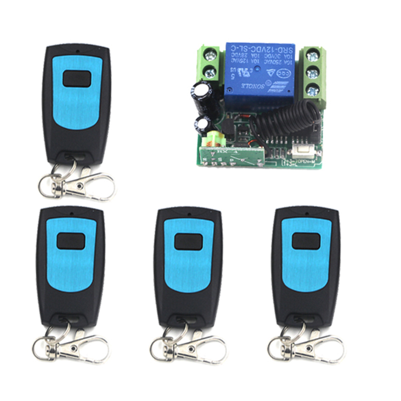 1000m 12V 10A 1CH RF System RF Wireless Switch Remote&Receiver 315MHZ/433MHZ Remote Control Manufacturer 4112 wireless pager system 433 92mhz wireless restaurant table buzzer with monitor and watch receiver 3 display 42 call button