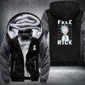 Новый Рик и Морти Балахон Логотип Зима Джиаронг Руно Мужские Кофты Бесплатная Доставка США Размер