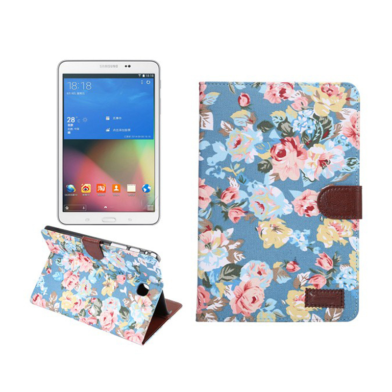 Flower For Samsung Tab S 8.4 T700 T705 SM-T700 SM-T705 Cute Tablet Case PU Leather Cover Case