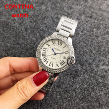 4 Colors Fashion Luxury Diamond Japan Move Quartz Men Women Wristwatch Famous Stainless Steel  Watch