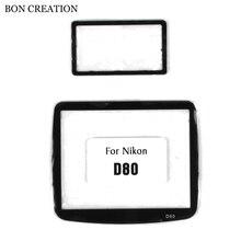 Bon создание Экран протектор для Nikon D80 D90 Камера компактный ЖК-дисплей оптический Стекло Экран защитный Видеокамеры Интимные аксессуары