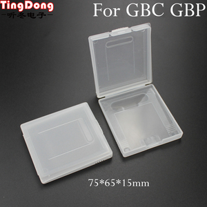 Image 1 - TingDong Beyaz Plastik Oyun Kartı Durumda Yüksek Kaliteli Oyun Kartuş Kılıfları Kutuları Nintendo Gameboy GBC