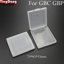 TingDong  White Plastic Game Card Case High Quality Game Cartridge Cases Boxes for Nintendo Gameboy GBC