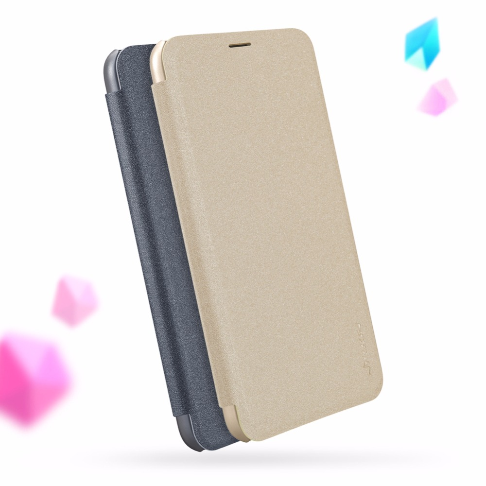 NILLKIN Sparkle PU+PC leather case flip cover For HUAWEI Honor 9 Lite phone cases SuperThin Flip Cover Leather hard back cover