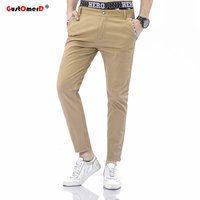 GustOmerD 2018 Spring New Men Casual Pants Straight Long Mens Classic Business Dress Slim Jogger Trousers