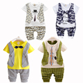 Чистые Продажи Летние Дети Мальчиков Одежда Набор Baby Boy Одежда Набор Малыш Мальчики Одежда для Новорожденных Жилет Шорты Брюки Джентльмен Костюм
