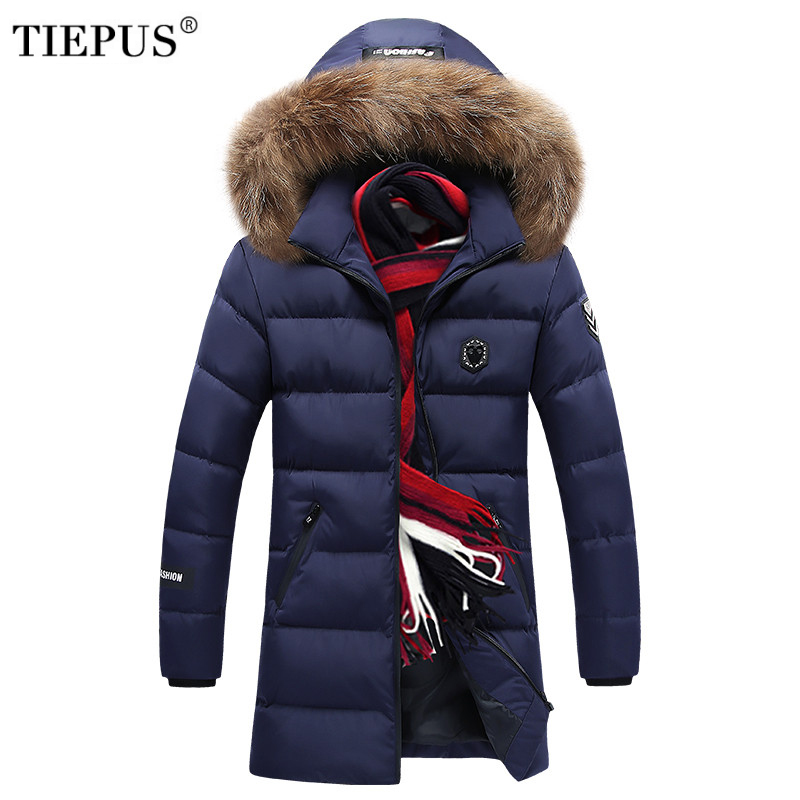 TIEPUS Fashion Winter New Jacket Men Warm Coat Fashion Casual   Parka   Medium-Long Thickening Coat Men For Winter Plus size 7XL 8XL