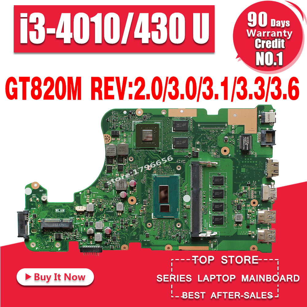 X555LD Carte Mère i3 Pour ASUS X555L X555LP A555L K555L Mère d'ordinateur portable X555L X555LJ X555LB X555LI X555LN Carte Mère 100% ok