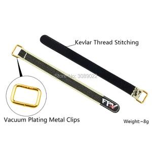 Image 3 - 4 adet RJX KEVLAR sihirli kravat aşağı Anti skid Anti slip pil kayışı kemer Metal toka RC Drones Lipo pil şarj edilebilir