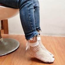 Hot Women Sock Ruffle Fishnet Ankle High Socks Mesh Lace Fish Net Novel Style Short Socks For The Special You Soxs Sokken #W3(China)