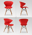 2 Pieces of Set Nordic Fashion Chair Plastic Creative Office Modern Stoelen Furniture Wood Restaurant Chairs Ergonomic