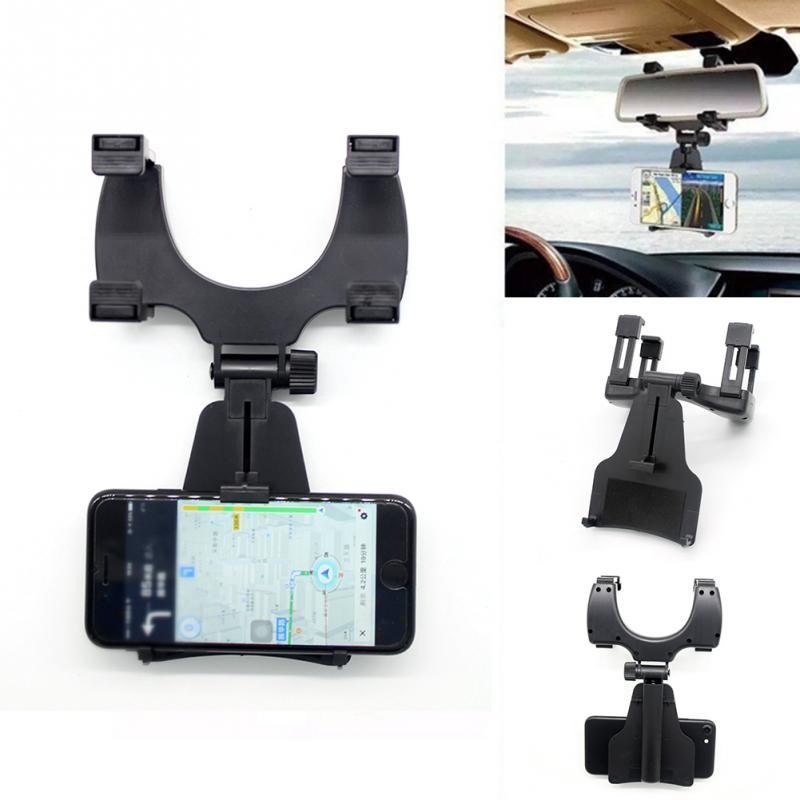 Универсальный автомобильный Зеркало заднего вида держатель подставки Колыбели для сотового телефона GPS