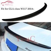 W117 AMG スタイルカーボンファイバーリアスポイラー用メルセデス CLA C117 4 ドアセダン 2014-2019 CLA180 CLA200 CLA250 CLA45 AMG