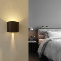 Waterproof Led Wall Lamps Light 7W Brightness COB Led Source Aluminum Adjustable Plate Bedroom Hotel Villa
