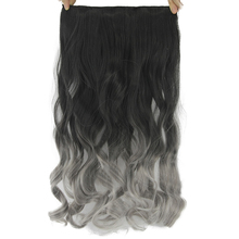 Soowee 24 дюйма длинные вьющиеся черные серые женские волосы высокотемпературный синтетический Омбре волосы кусок клип в наращивание волос