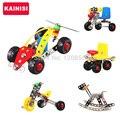 KAINISI Металл Модель Строительство Комплекты Логические ariplane Автомобиля Просветить Образования Сборка детские Игрушки VS 3d металл модель комплекты
