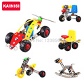 KAINISI Metal Model Building Kits Puzzle ariplane Car Enlighten Education Assemblage children Toys VS 3d metal model kits