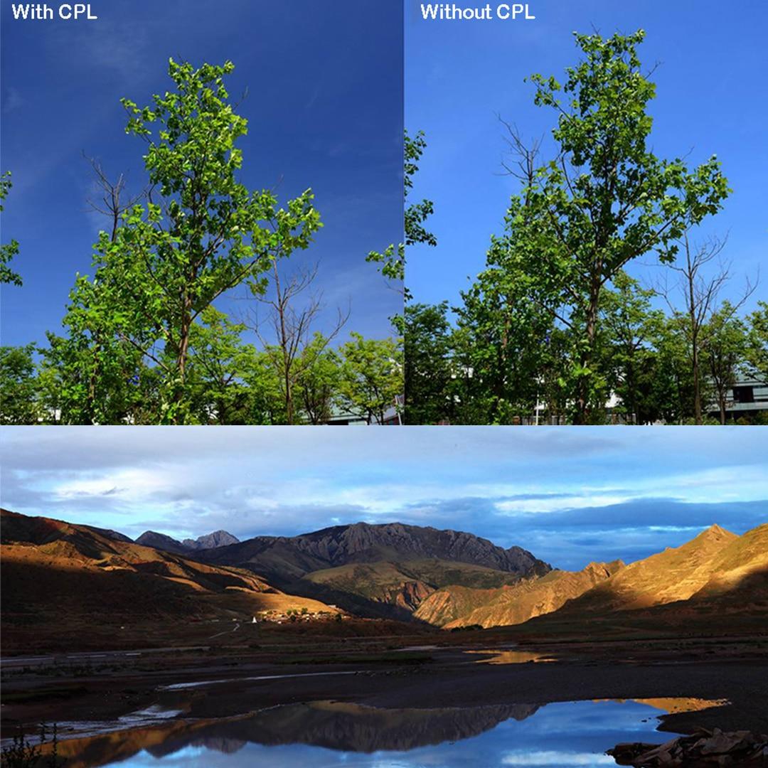 """מוצרי חשמל לבית BAODELI Filtro Polarizador רב""""ט Polarisatie מסנן 37 40.5 43 46 49 52 55 62 58mm 67 מיליון 72 77 82 מ""""מ עבור מצלמה Canon Nikon Sony (5)"""