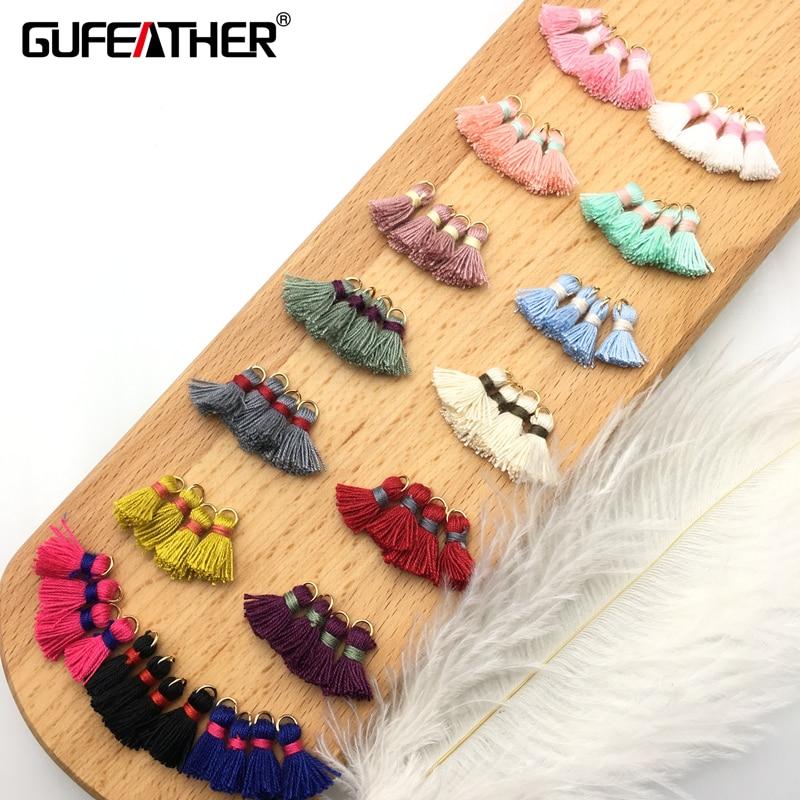 GUFEATHER L22/15mm Little Cotton Brush Earrings Accessories/jewelry Accessories/jewelry Findings/diy Jewelry/findings