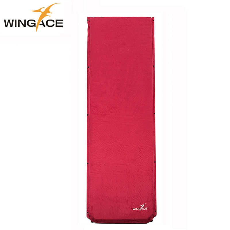WINGACE Suede Inflatable Mattress Outdoor self-inflating Camping Mat 198*68*8CM Folding Sleeping Pad Air Bed Beach Tourist Mat automatic inflatable cushion outdoor travelling sleeping bed pad camping mat sleeping picinic mattress pad self inflating