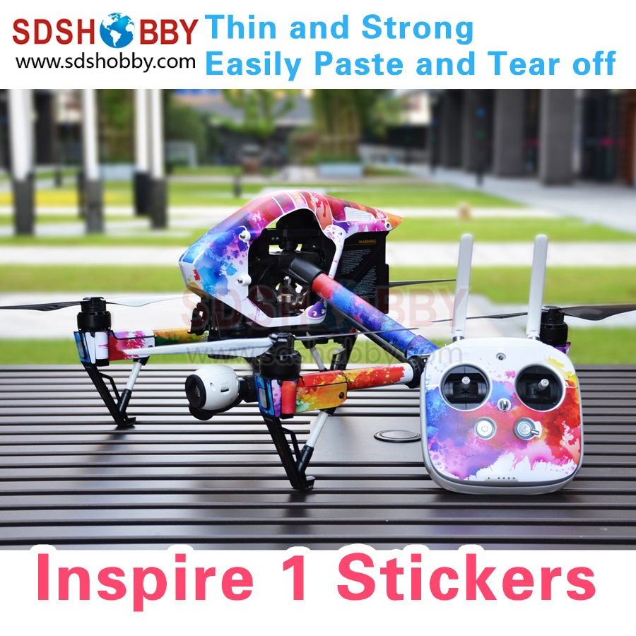 Inspire 1 Stickers Waterproof PVC Decals Skin Wrap Cover 3M Film Accessories for DJI Inspire 1