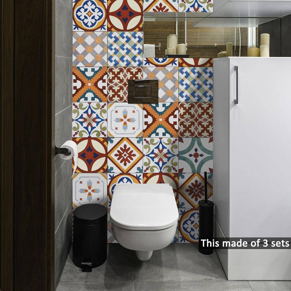 15 15cm 20 20cm Turkish Ceramic Tiles Diy Pvc Waterproof Self