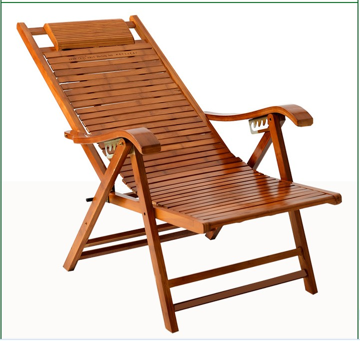 bamboo chairs ergonomic posture kneeling chair wooden folding in the summer siesta sleep lazy lounger couch upscale