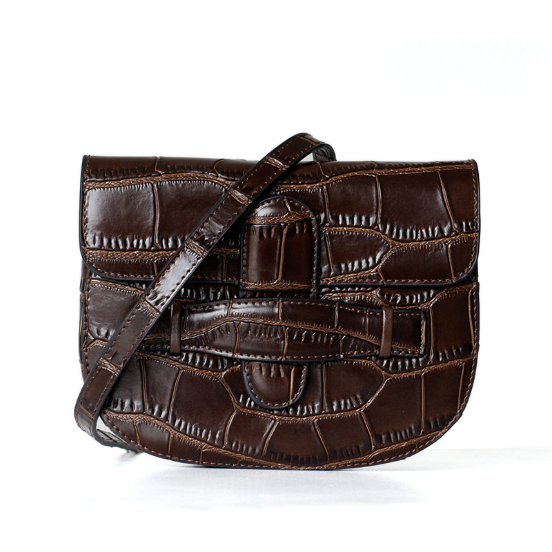 Luxurious Famous Brand Design Mini Saddle Bag 100 Genuine Leather Women Shoulder Bag Waist Bag Crocodile