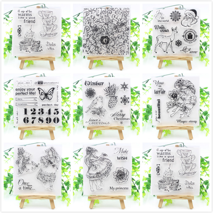 YPP CRAFT Mixed Transparent Clear Silicone Stamps for DIY Scrapbooking/Card Making/Kids Fun Decoration Supplies
