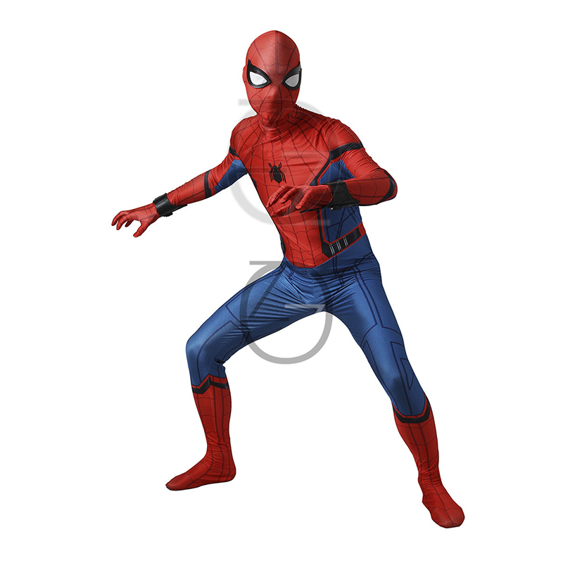 Move Spider-Man Cosplay Costume Peter Benjamin Parker Civil War Spider-Man Homecoming 3D Shade Halloween Spiderman For Adult/Kid