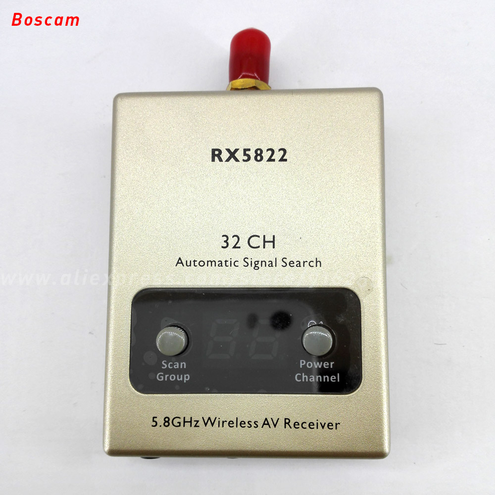 BOSCAM 5.8ghz rc fpv receiver 32CH mini wireless audio video model quadcopter LED RX for robot airplane drone