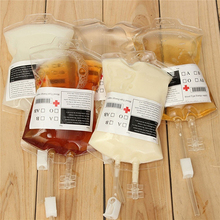 Halloween Party Vampire Cosplay Transparent Drink Blood Bag Beverage Bottle