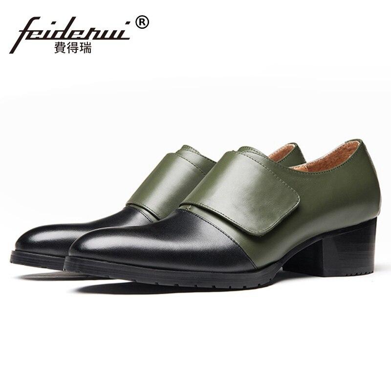 Mode naturel en cuir véritable talons hauts homme robe formelle Oxfords bout pointu hauteur augmenter hommes chaussures de fête de mariage SS548