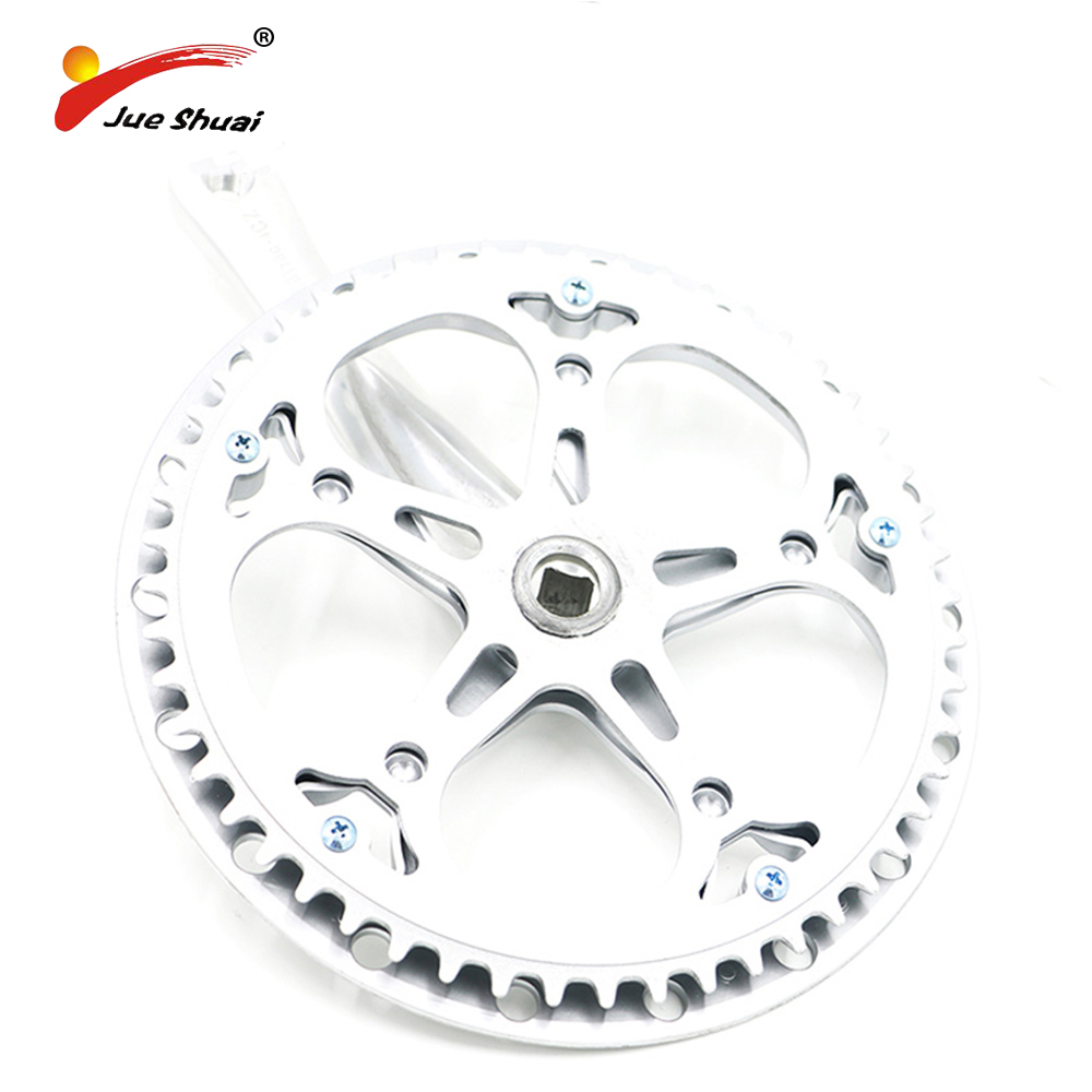 Jueshuai Round Shape Bicycle Chainwheel and Crank Guarnitura MTB Crankset Connecting Rods For Bike Circle Crankset Bicycle Parts carbon crankset chainwheel for mtb