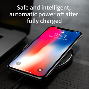 Image 2 - Baseus Qi 무선 충전기 for iPhone 11 XS MAX 8 plus for Samsung S10 S9 Plus Note 9 8 무선 충전 USB 전화 충전기 패드