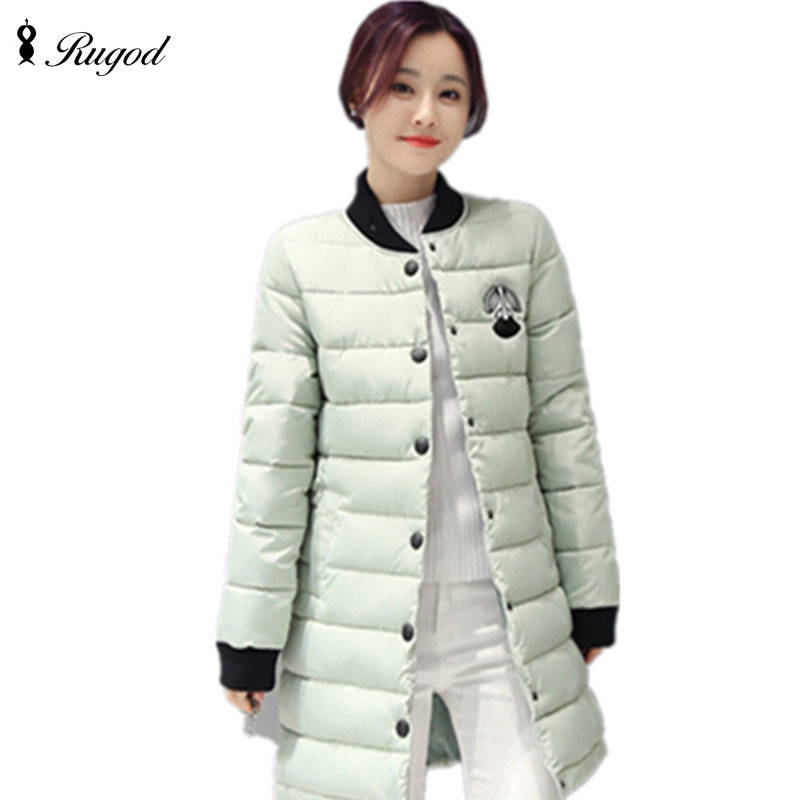 ФОТО New Style Winter Jacket Women Long Section Slim Coat Thin Cotton Students' Coats Hot Sell Down Jackets Fashion Padded