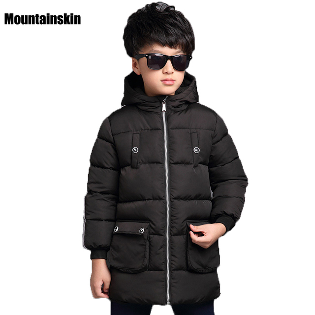 NEW Thicken Boys Winter Jackets Kids Down Cotton Parkas 4-13Y Children's Hooded Coats Outwear Kids Thermal Brand Clothes SC661
