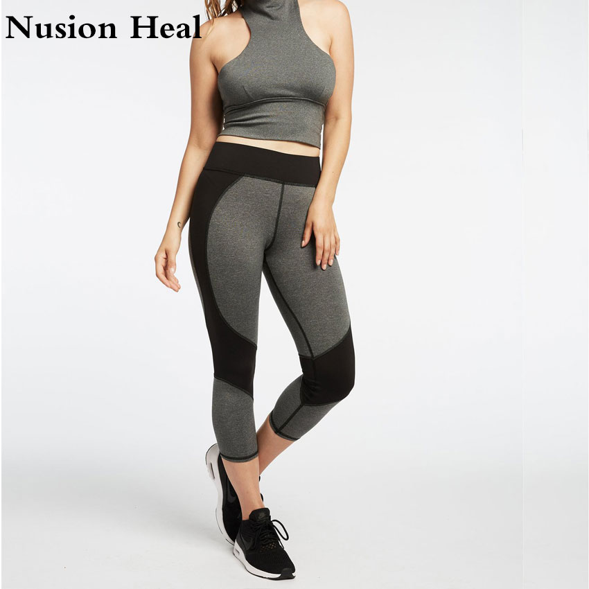 High Quality Black Strap Wide Waisted Yoga Pants for Women Fitness Running Tights Purple Sport Push Up Cross Back Yoga Leggings