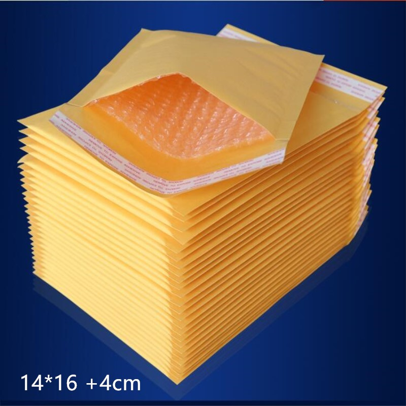 New 140 x 160 MM 200pcs Bubble Mailers Padded Envelopes Bags Kraft Bubble Mallrrs Mailng Envelope Bags image