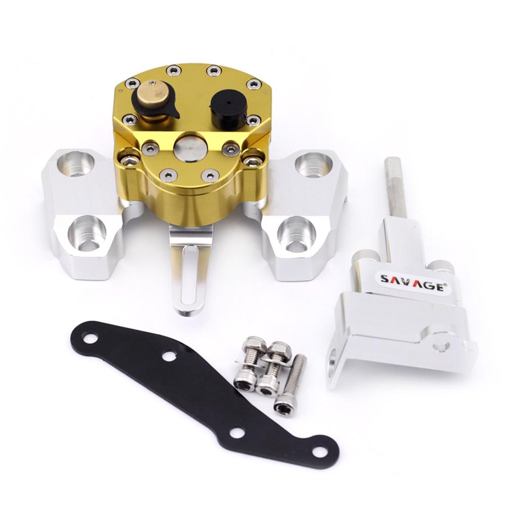 تثبیت کننده فرمان برای YAMAHA MT-09 MT09 FZ09 FZ-09 2014-2016 15 لوازم جانبی موتور سیکلت قابل تنظیم با براکت