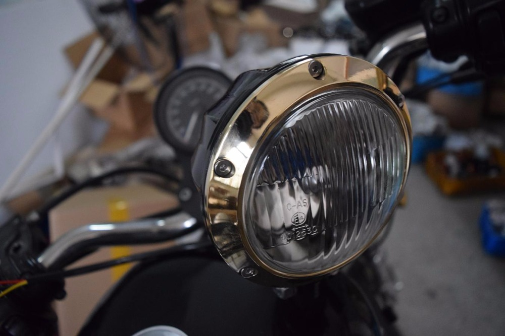 Headlight Kit Street Rods : Black vintage antique style chopper motorcycle bobber