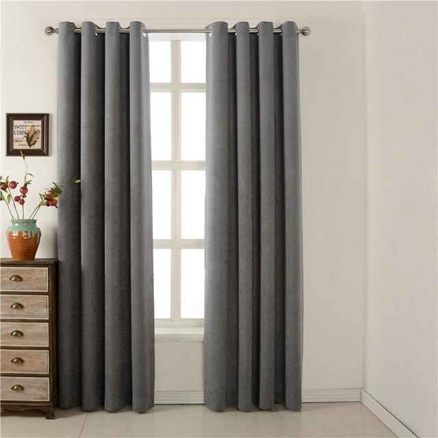 Cinza escuro painel cortinas da janela cortinas blackout for Cortinas en tonos grises