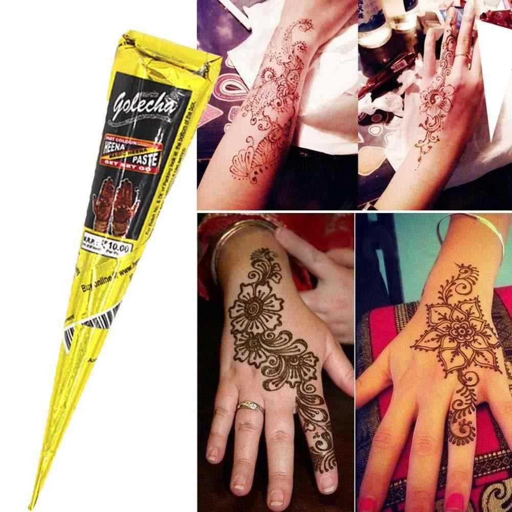 e623d698b ... Black brown red white Henna Cones Indian Henna Tattoo Paste For Temporary  Tattoo body art Sticker ...
